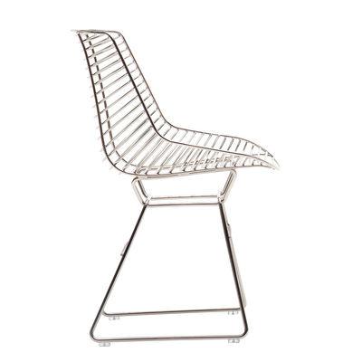 Mobilier - Chaises, fauteuils de salle à manger - Chaise Flow Filo - MDF Italia - Chromé - Acier