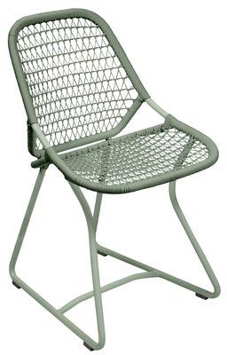 Chaise Sixties / Assise souple plastique tressé - Fermob cactus en matière plastique