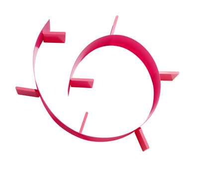 Etagère Popworm / L 320 cm - Kartell rose fluo en matière plastique