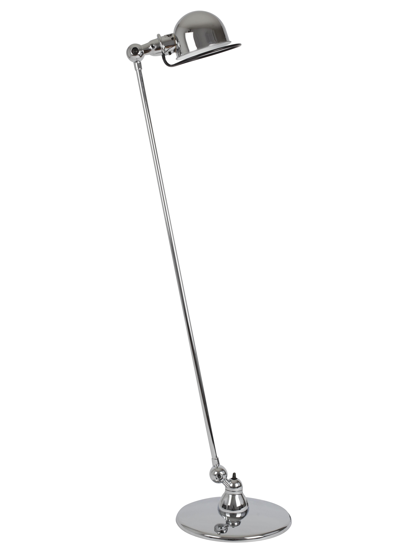 Luminaire - Liseuse Loft / 1 bras articulé - H 120 cm - Jieldé - Chromé brillant - Acier inoxydable chromé, Porcelaine