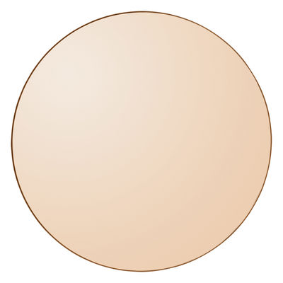 Déco - Miroirs - Miroir mural Circum Large / Ø 110 cm - AYTM - Ambre / Cadre ambre - MDF peint, Verre