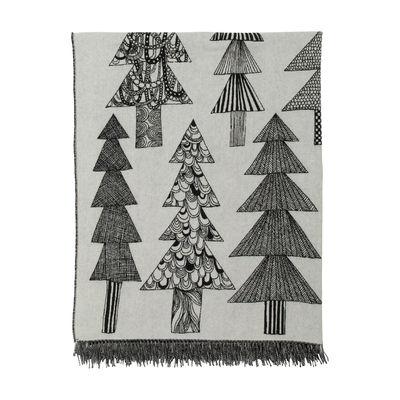 The Christmas shop - A festive table - Kuusikossa Plaid - / 130 x 170 cm by Marimekko - Kuusikossa / Black & white - Mohair, Polyamide