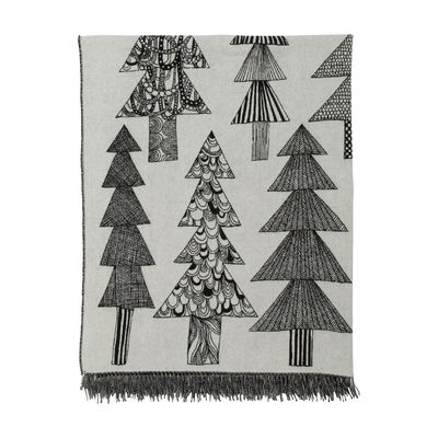 Natale Design - Una tavola di festa - Plaid Kuusikossa - / 130 x 170 cm di Marimekko - Kuusikossa / nero & bianco - Mohair, Poliammide