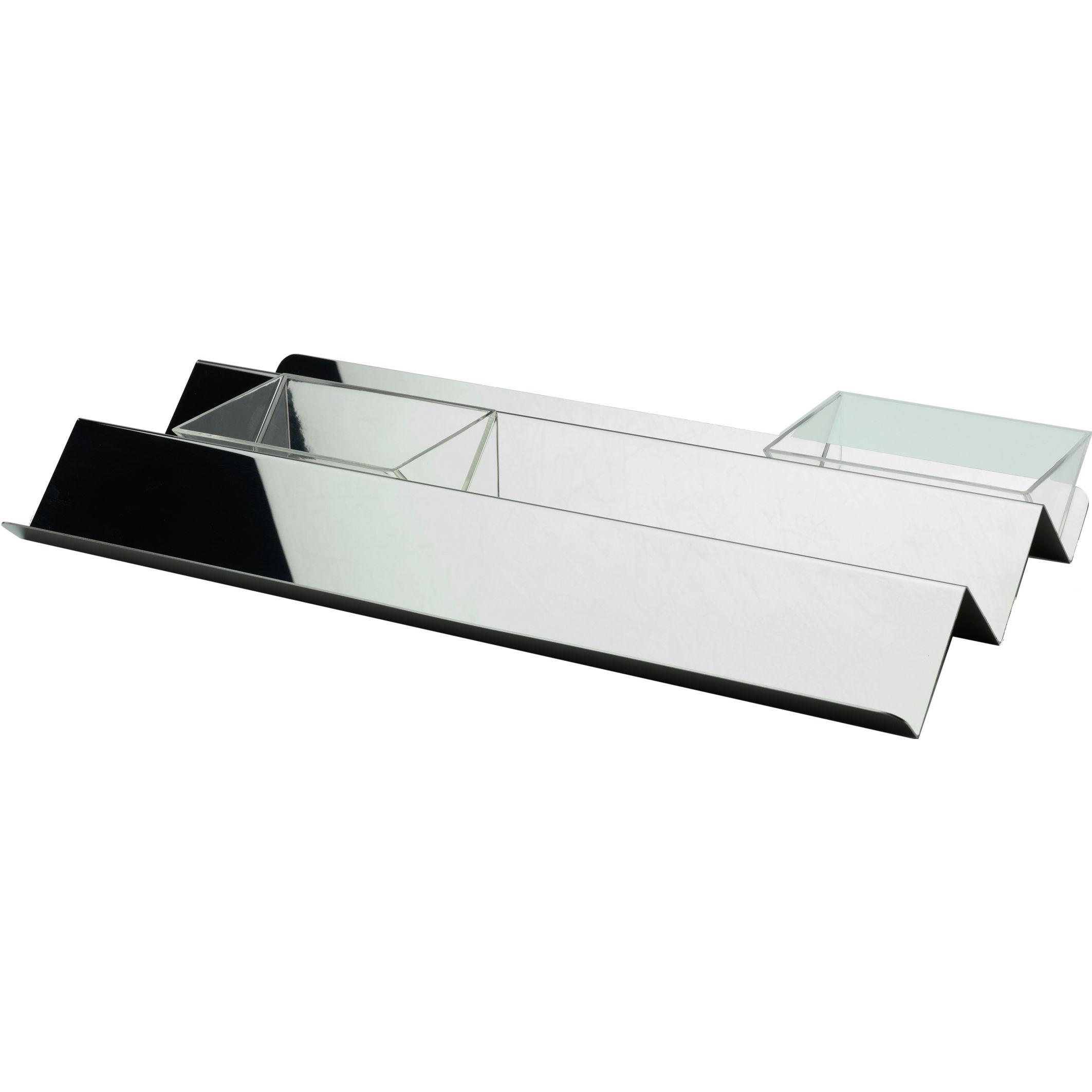 Arts de la table - Plats - Plateau V tray / 45 x 23 cm - Alessi - Acier brillant - Acier