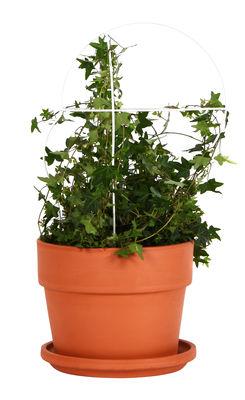 Pot de fleurs Outline avec tuteur / Grand modèle - Structure 5 - ENOstudio blanc,terracotta en métal