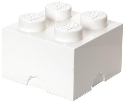 Interni - Per bambini - Scatola Lego® Brick - / 4 bottoncini di ROOM COPENHAGEN - Bianco - Polipropilene