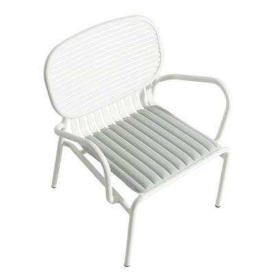 Furniture - Armchairs - Week-End Seat cushion - / Wide - 48 x 42 cm - by Petite Friture - Pearl grey - Polyester