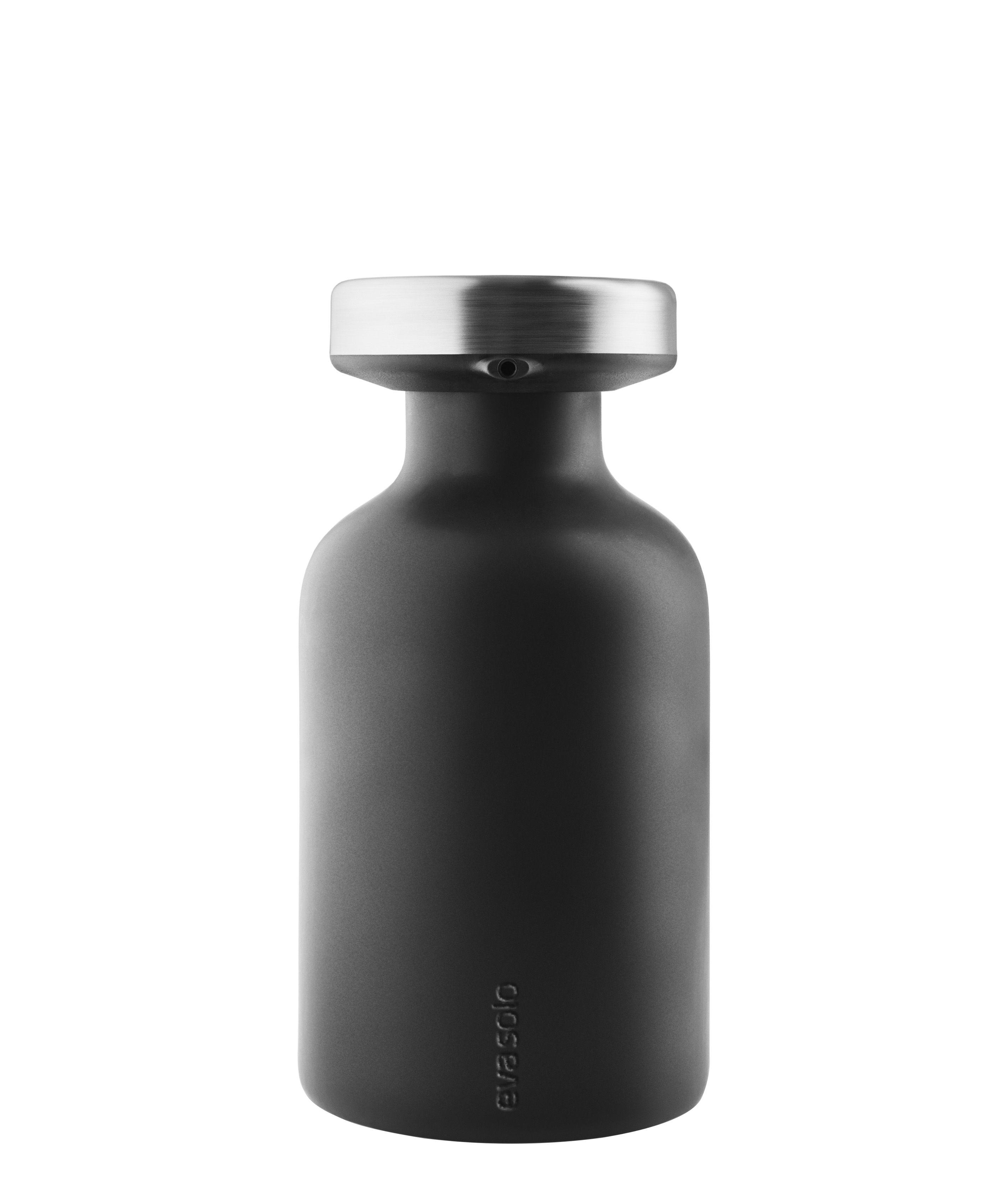 Accessories - Bathroom Accessories - Soap dispenser - / With lid by Eva Solo - Matt black - Ceramic, Stainless steel