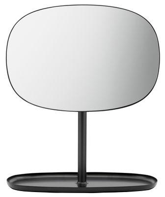 Specchio da appoggiare Flip - / Svuotatasche di Normann Copenhagen - Nero - Metallo