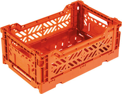 Accessories - Desk & Office Accessories - Mini Box Storage rack - Foldable L 26,5 cm by Surplus Systems - Pop Corn - Orange - Polypropylene