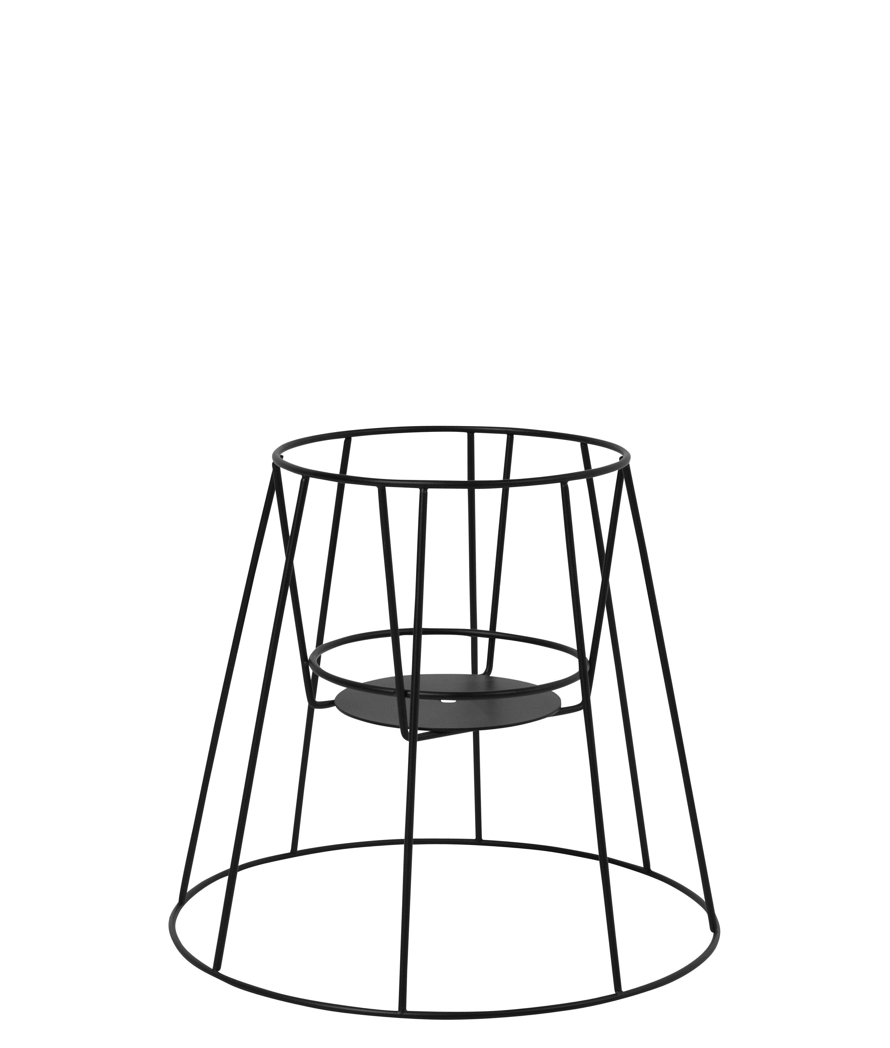 Outdoor - Vasi e Piante - Supporto per vaso di fiori Cibele Small / H 30 cm - OK Design per Sentou Edition - Nero - Metallo