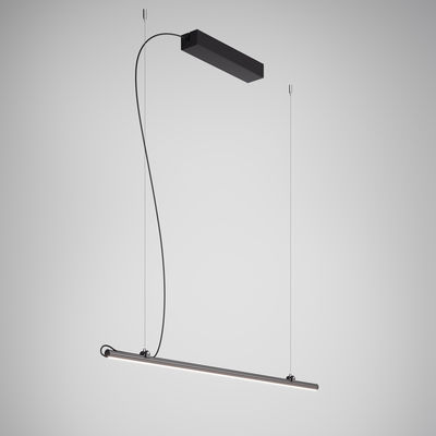 Suspension Freeline LED / L 100 cm - Fabbian noir en métal