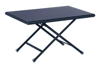 Mobilier - Tables basses - Table basse Arc en Ciel / Pliante - 50 x 70 cm - Emu - Bleu foncé - Acier verni