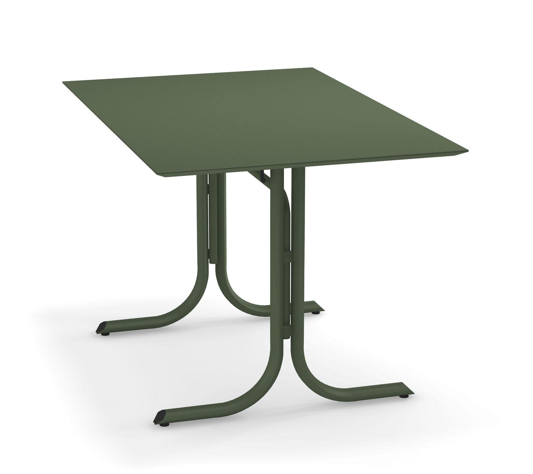 Outdoor - Tavoli  - Tavolo pieghevole System - / 80 x 120 cm di Emu - Verde militare - Acier peint galvanisé