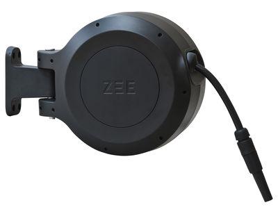 Outdoor - Vasi e Piante - Tubo per innaffiare Mirtoon - 10m / Avvolgimento automatico - Pistola in omaggio di Zee - Nero - ABS, PVC