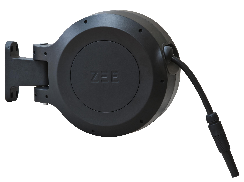 Outdoor - Pots et plantes - Tuyau d'arrosage Mirtoon 10m / Enrouleur automatique - Pistolet offert - Zee - Noir - ABS, PVC