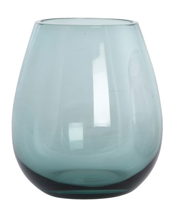 Tableware - Wine Glasses & Glassware - Ball Water glass - /H 10 cm by House Doctor - Dust green - Mouth blown glass