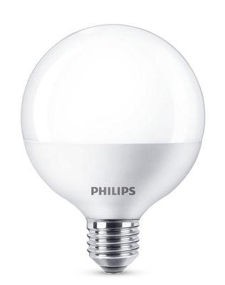 Ampoule LED E27 Globe dépolie / 9,5 W (60 W) - 806 lumen - Philips blanc dépoli en verre