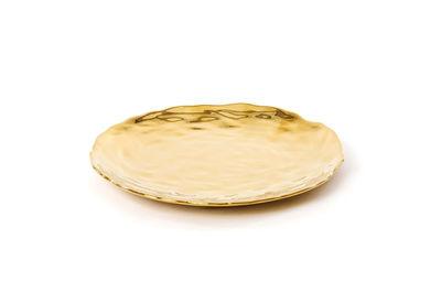 Arts de la table - Assiettes - Assiette à dessert Fingers / Ø 22 cm - Seletti - Doré - Porcelaine