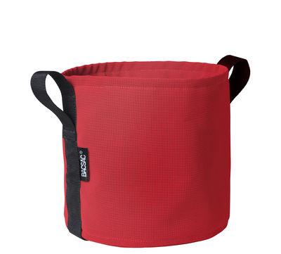 Outdoor - Töpfe und Pflanzen - Batyline® Blumentopf / Outdoor-Version - 10 l - Bacsac - Kirschrot - Toile Batyline®