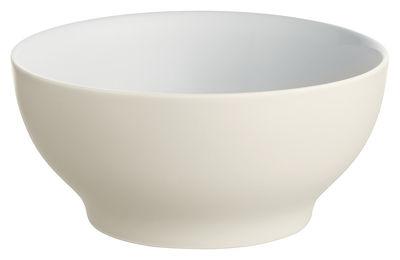 Arts de la table - Saladiers, coupes et bols - Bol Tonale Small / Ø 15 cm - Alessi - Blanc cassé / intérieur blanc - Céramique Stoneware