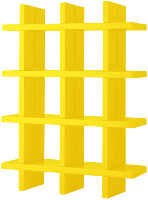 Furniture - Bookcases & Bookshelves - My Book Bookcase - H 184 cm - W 138 cm by Slide - Yellow - recyclable polyethylene
