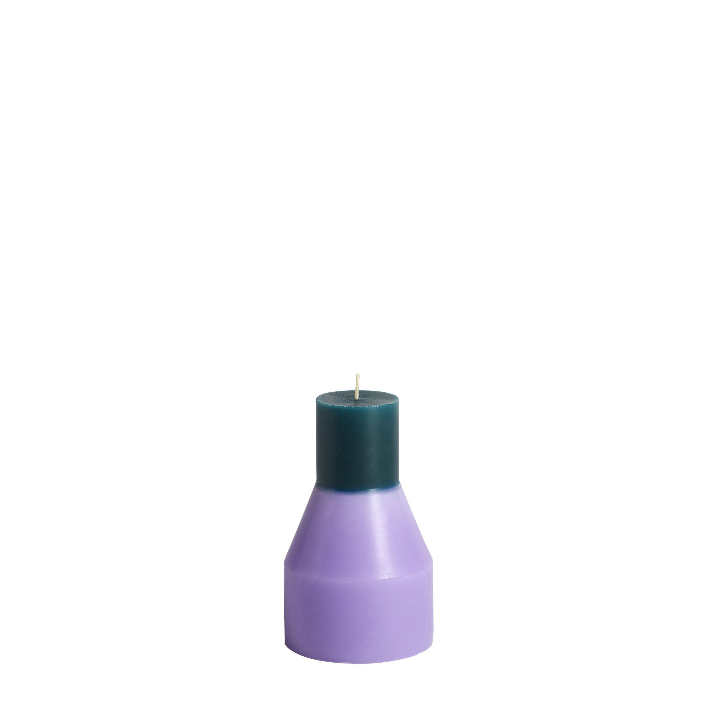 Déco - Bougeoirs, photophores - Bougie Pillar Small / Ø 9 x H 15 cm - Hay - Lavande, Vert foncé - Cire