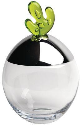 Kitchenware - Kitchen Storage Jars - Big ovo Box by Alessi - Green - Crystalline glass, Glossy metal