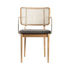 Cannage Bridge armchair - / Fabric - Brass armrests by RED Edition