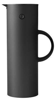 Tavola - Caffè - Caraffa isotermica Classic Reverse / 1 L - Edizione limitata - Stelton - Nero / Tappo argento - ABS