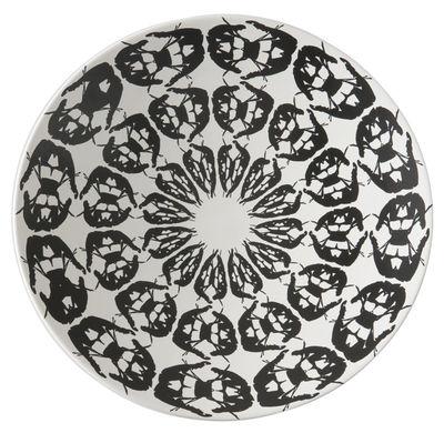Centre de table Greeky / Ø 47 x H 7 cm - Fait main - Driade blanc,noir en céramique