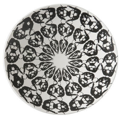 Centre de table Greeky / Ø 47 x H 7 cm - Fait main - Driade blanc/noir en céramique