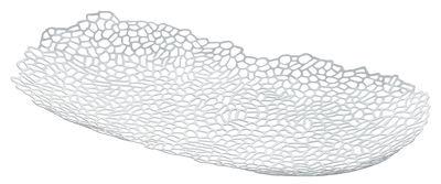 Centre de table Opus / 60 x 34 cm - Alessi blanc en métal