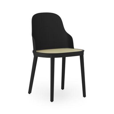 Furniture - Chairs - Allez OUTDOOR Chair - / Cane effect by Normann Copenhagen - Black / Beige - Polypropylene, polypropylene imitation wicker cane