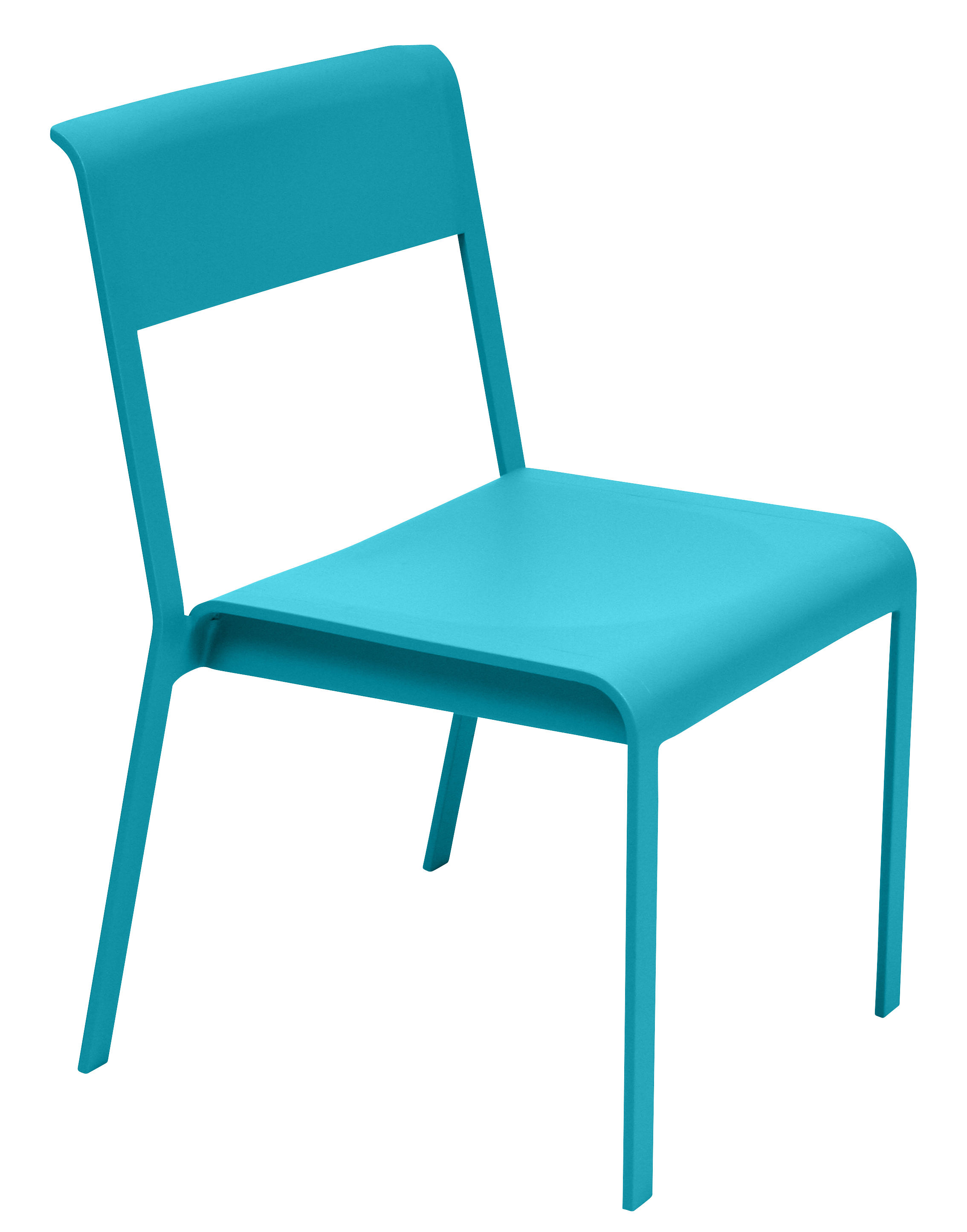 Chaise Empilable Bellevie Metal Bleu Turquoise Fermob Made In