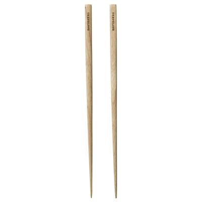 Tableware - Cutlery - Chopsticks - / 2 pairs by Marimekko - Chopsticks / Wood - Rubber tree wood