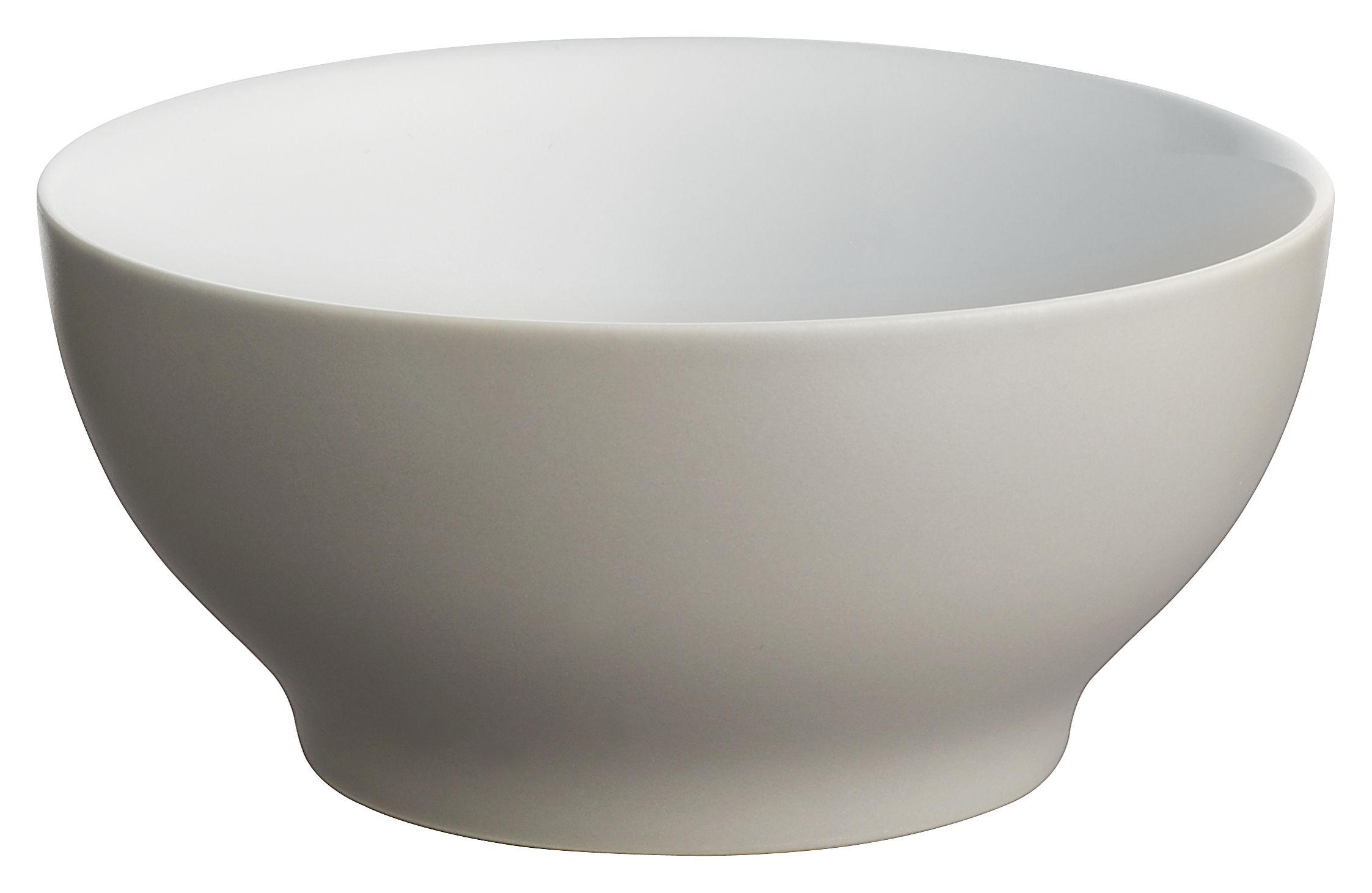 Tavola - Ciotole - Ciotola Tonale - Piccola ciotola di Alessi - Grigio chiaro/interno bianco - Ceramica stoneware