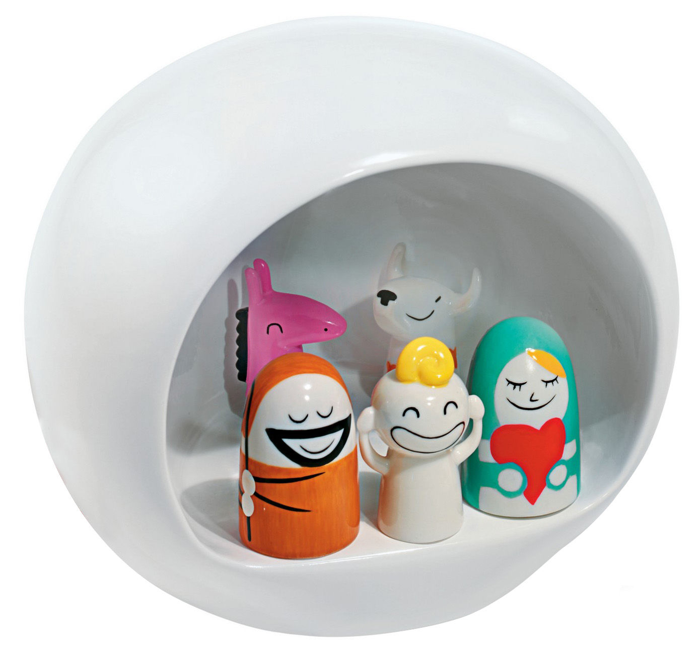 Decoration - Funny & surprising - Presepe Crib - Crib by A di Alessi - Multicoloured - China