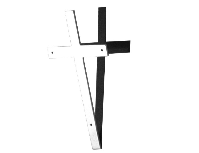 Accessories - Unusual design  - Croce Decoration - Cross with its shadow by Alessi - Steel & black shadow - Stainless steel