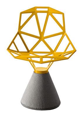 Mobilier - Chaises, fauteuils de salle à manger - Fauteuil Chair One B / Métal & base béton - En exclusivité - Magis - Jaune - Béton, Fonte d'aluminium