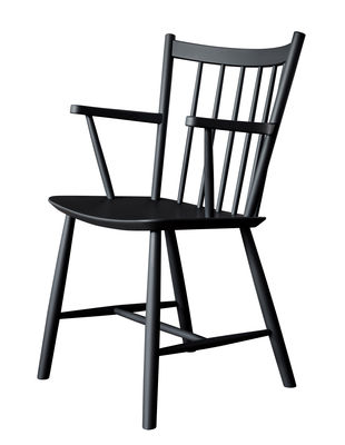Chaise J42 Bois Hay noir en bois