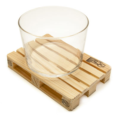 Tableware - Table Mats & Trivets - Palette-it Glass coaster - Set of 4 by Pa Design - Natural wood - Pine