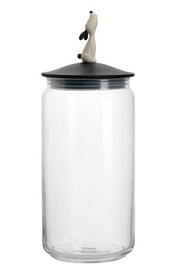 Tischkultur - Boxen und Töpfe - LulàJar hermetisch verschließbares Glas - A di Alessi - Schwarz - Glas, thermoplastisches Harz