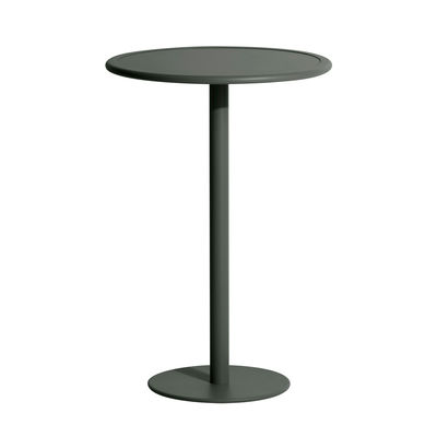 Furniture - High Tables - Week-End High table - / Ø 70 x H 105 cm by Petite Friture - Bottle green - Powder coated epoxy aluminium