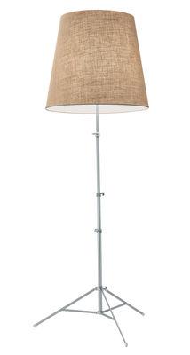Illuminazione - Lampade da terra - Lampada a stelo Gilda di Pallucco - Naturale - Iuta - Alluminio anodizzato, Iuta