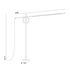 Lampadaire Tangent XL / LED - Orientable / H 203 cm - Pallucco