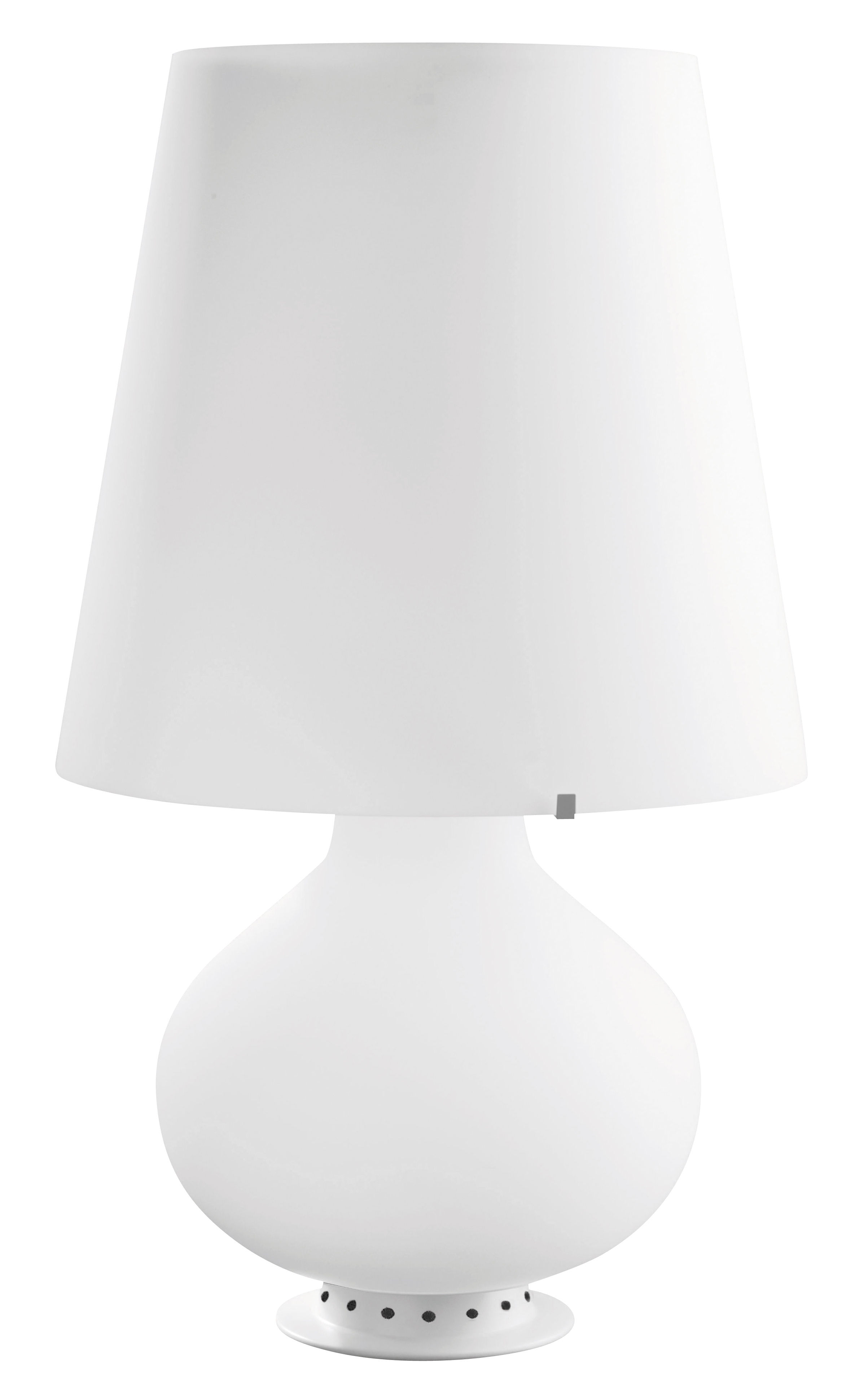 Luminaire - Lampes de table - Lampe de table Fontana Small / H 34 cm - Verre - Fontana Arte - Blanc - Métal, Verre soufflé