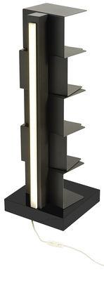 Arredamento - Scaffali e librerie - Libreria luminosa Ptolomeo Luce - / LED - H 72 cm di Opinion Ciatti - Nero - Acciaio laccato