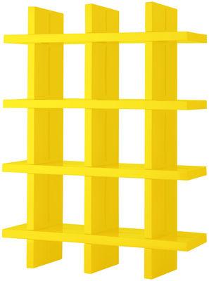 Arredamento - Scaffali e librerie - Libreria My Book - L 138 x H 184 cm di Slide - Giallo - polietilene riciclabile