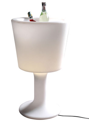 Furniture - Illuminated Furniture & Light UP Tables - Light Drink Luminous bottle holder - Luminous by Slide - White - recyclable polyethylene